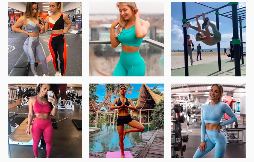 Gymshark is an example of a brand that is making use of user generated content (UGC) on it's social media.